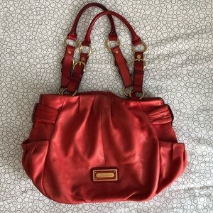 B. Makowsky Red Leather Satchel